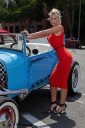 Beauty and a classic car